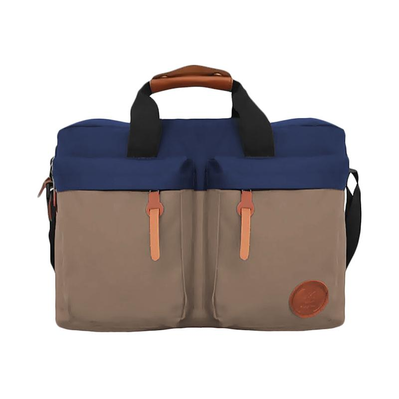 Bag & Stuff Embargo Combi Messenger Bag - Biru Donker Mocca
