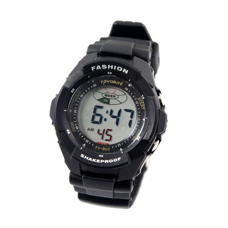 Favorite FV - 802 Jam Tangan Pria - Black
