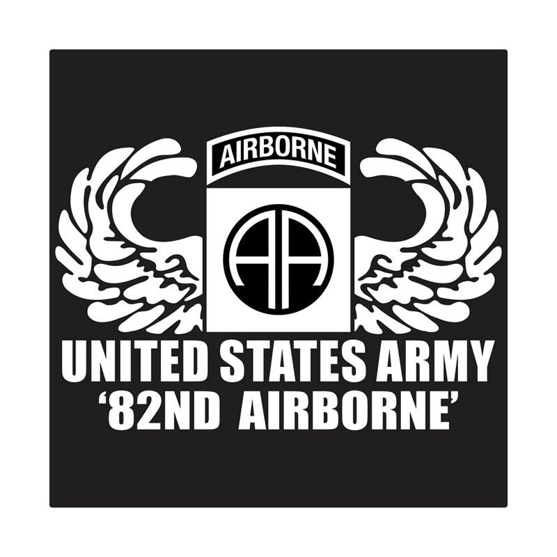Kyle United States Army 82nd Airborne Wing Cutting Sticker