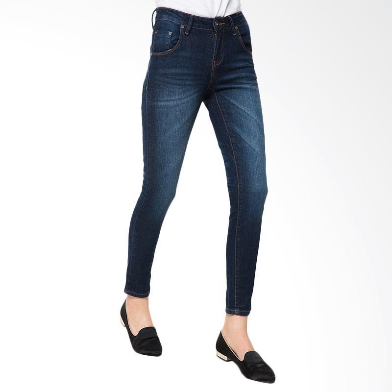 People's Denim Ladies Selvianna Celana Jeans - Biru