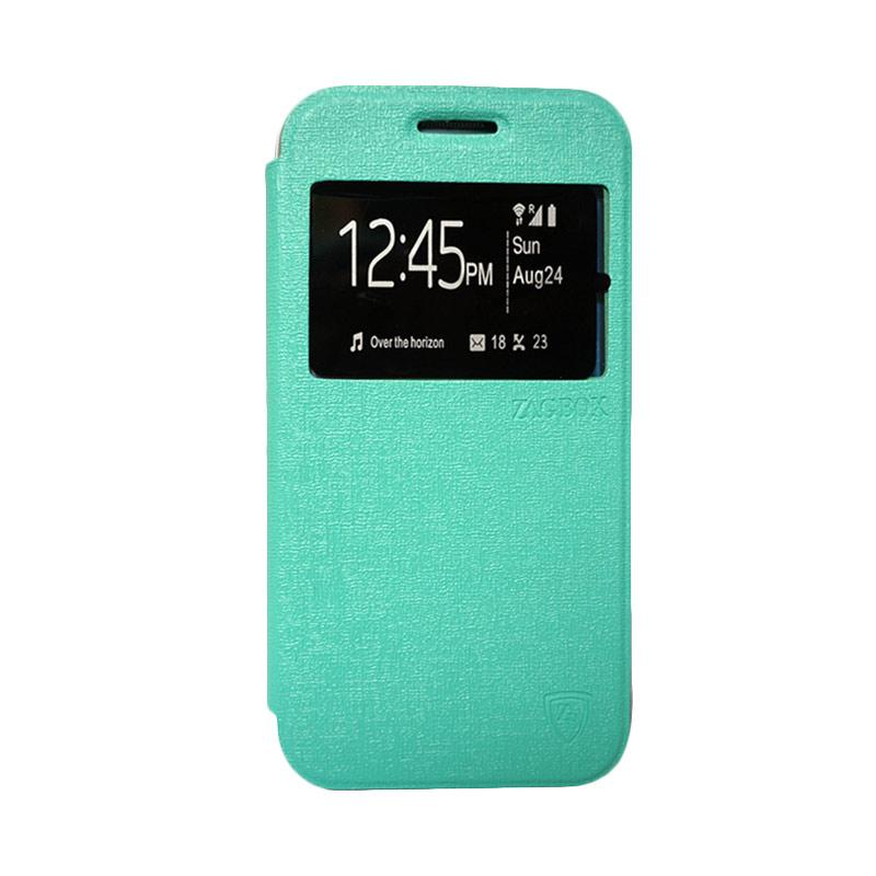 Zagbox Flip Cover Casing for Coolpad Star - Hijau Tosca