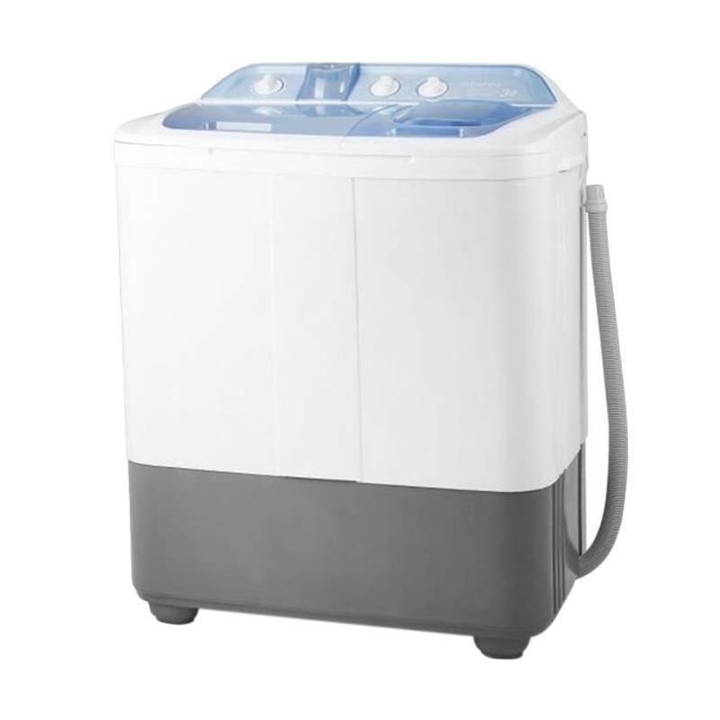 Denpoo DW-888 Mesin Cuci [Twin Tub/ Free Ongkir Jabodetabek] Putih