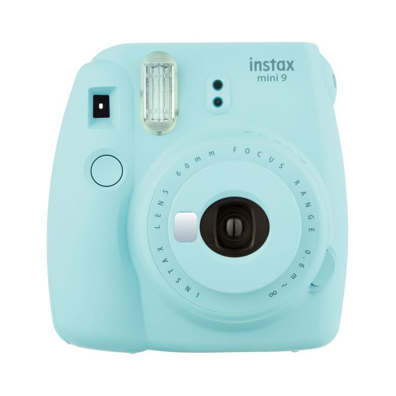Fujifilm Instax Mini 9 + 1 pack Instax Paper Instant Film Camera - Ice Blue