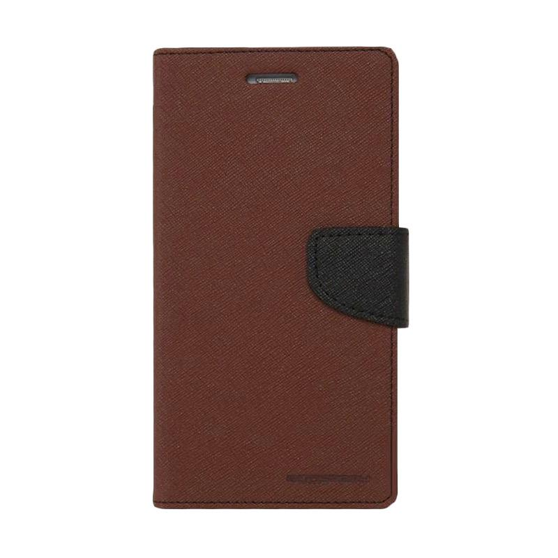 Mercury Fancy Diary Casing for iPhone 5 - Coklat Hitam