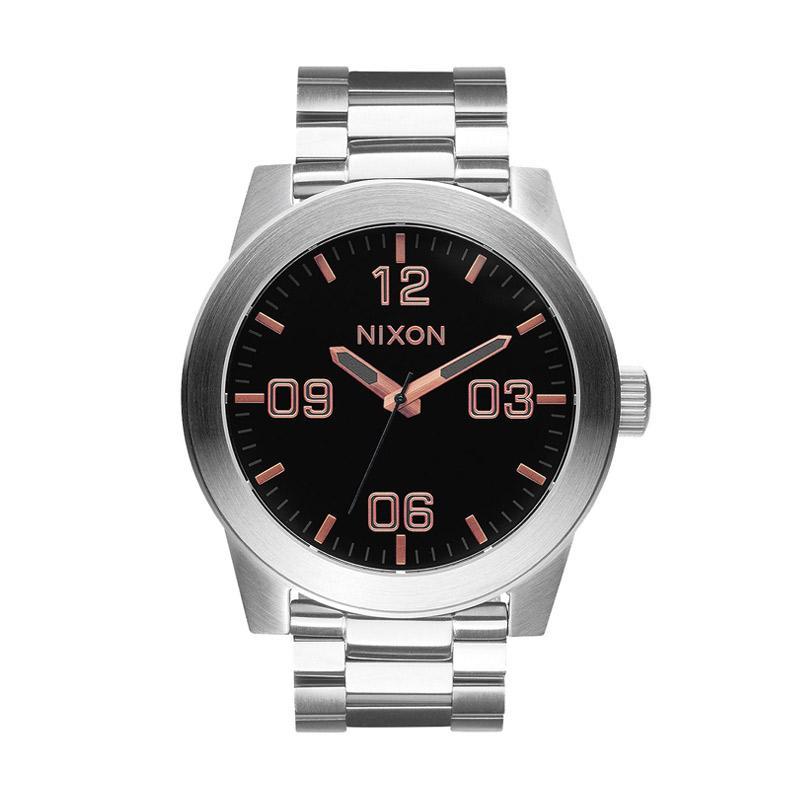 Nixon A3462064 Corporar Analog Watch Jam Tangan Pria - Silver