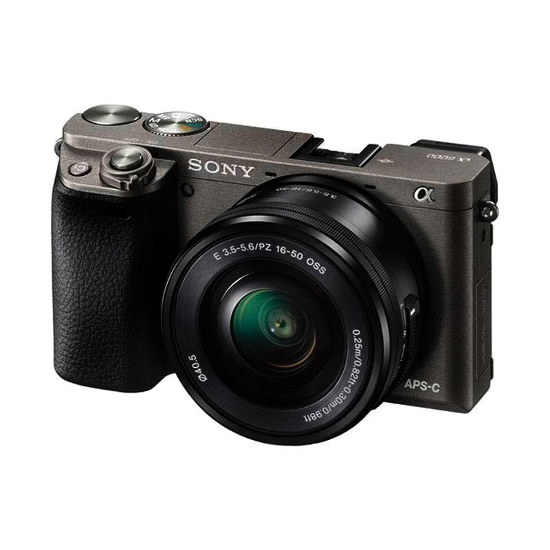 Sony Alpha A6000L Kit Lens 16-50mm Kamera Mirrorless - Grey (Resmi)