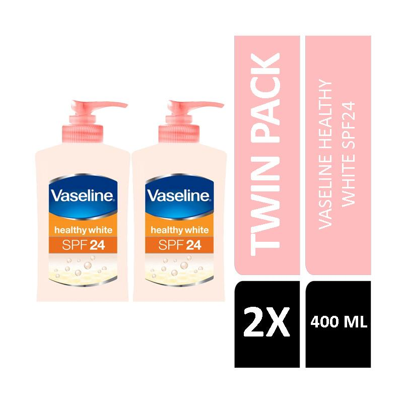 harga Vaseline Healthy White Spf24 Pa++ Lotion [400 mL/Twin Pack] Blibli.com