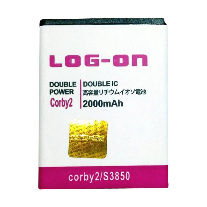 Log On Double Power Baterai for Samsung Corby II S3850 [2000 mAh]