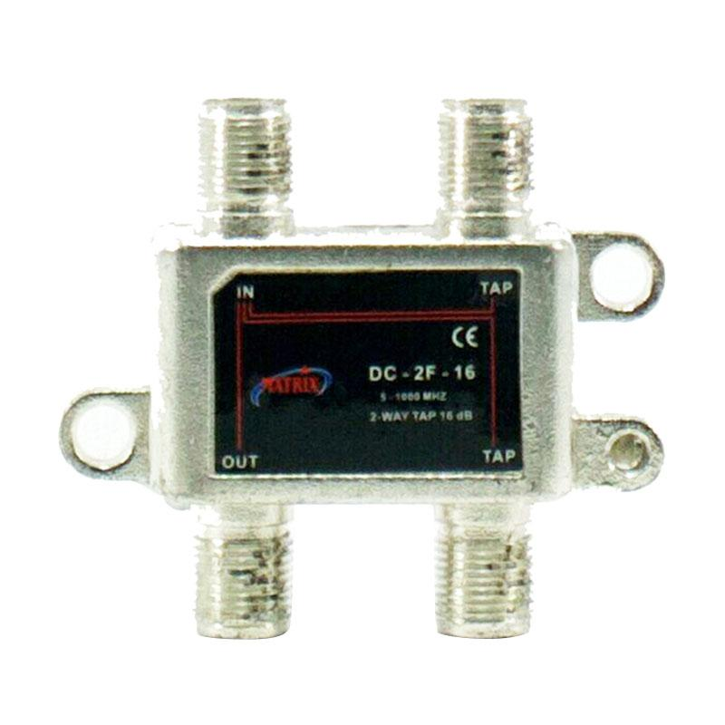 Matrix DC-2F-16 Tap Indoor Splitter Adapter [2 Way/ 16 db/ 5-1000 Mhz]