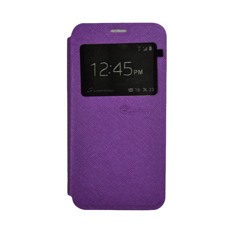 SMILE Standing Flip Cover Casing for Xiaomi Mi 5 - Purple