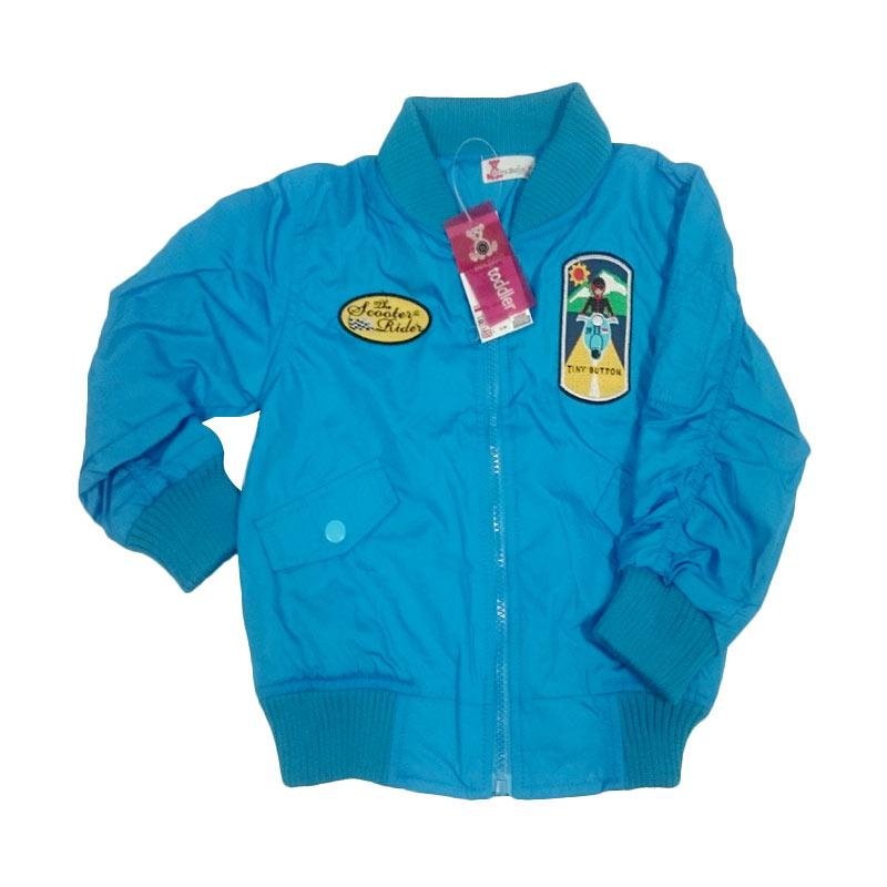 Tiny Button Toddler Boy Scooter Rider Jaket Anak - Blue