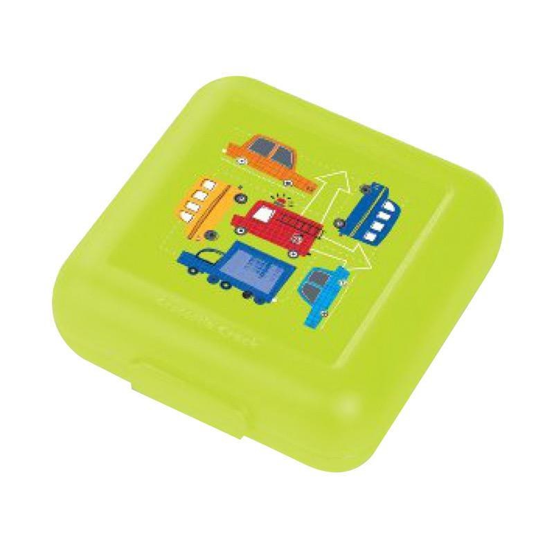 Crocodile Creek Sandwich Keeper Kotak Makan - Green Traffic Jam