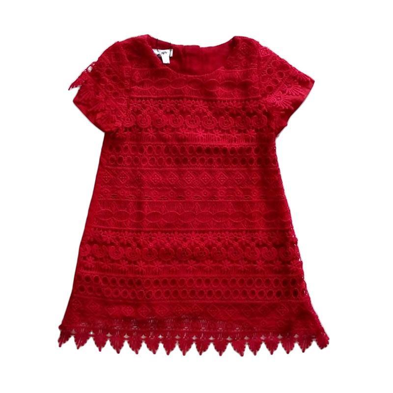 harga Cutemiel Chn DKNY Brukat Dress Anak Perempuan - Merah Blibli.com