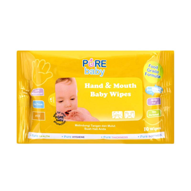 Pure Baby Hand & Mouth Wipes 10's Orange Oil Buy 2 Get 3