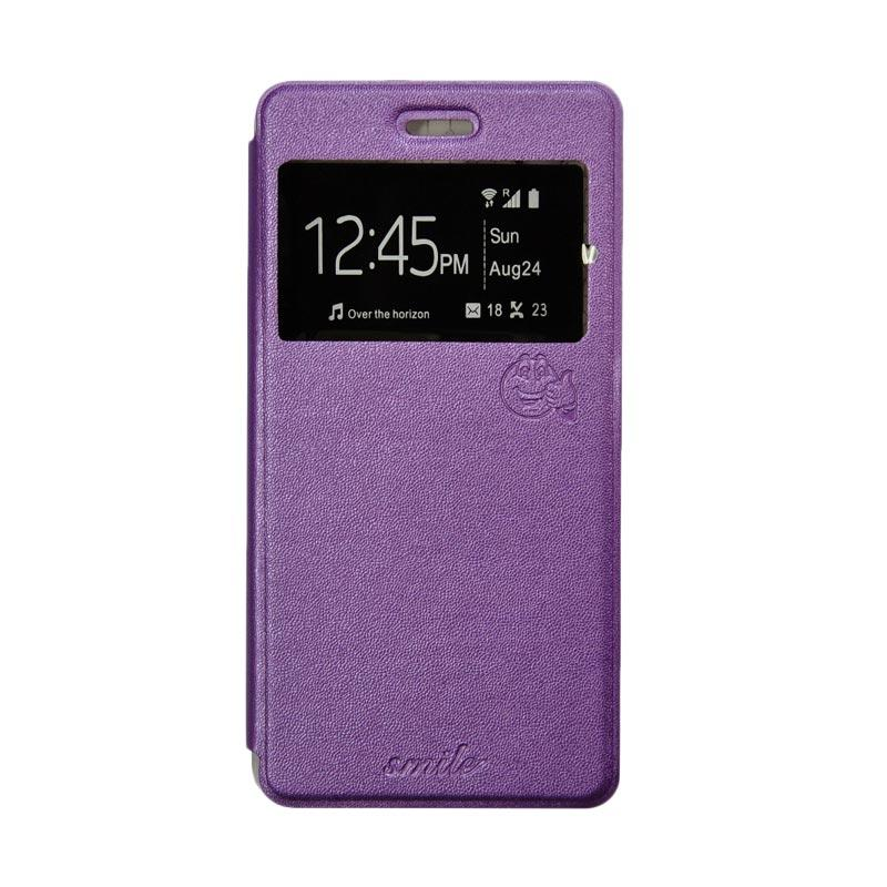SMILE Flip Cover Casing for Samsung Galaxy Mega 2 G750 - Ungu