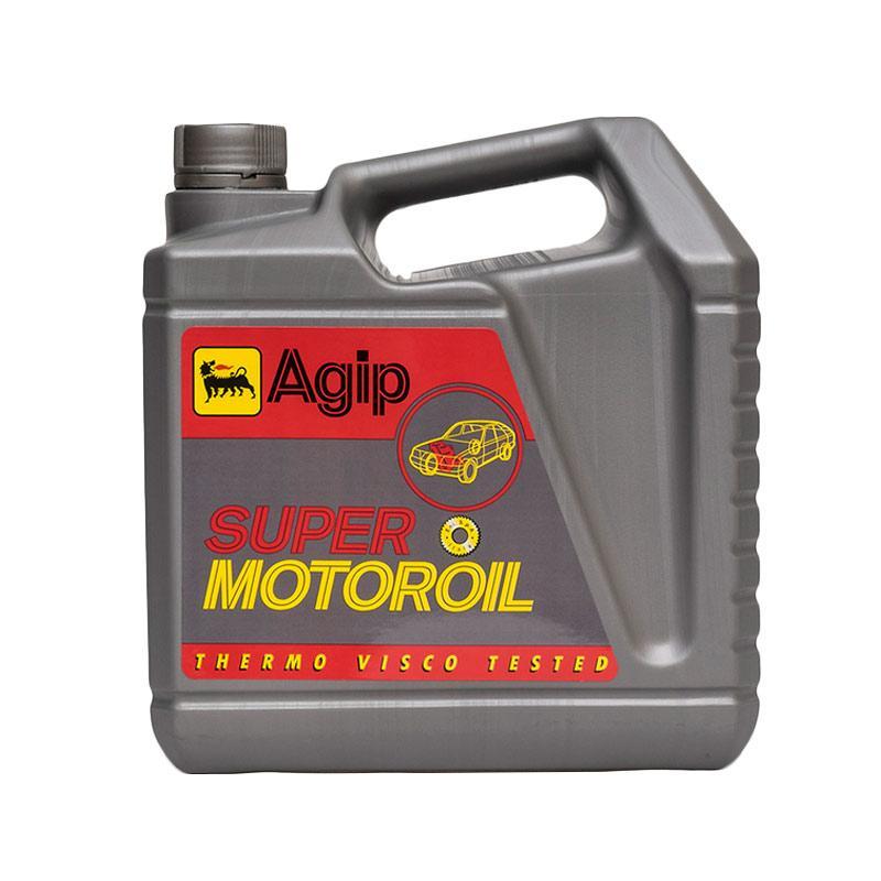 Harga Agip Super Motoroil SAE 20W 50 Oli Mobil Mesin Bensin 4 Liter