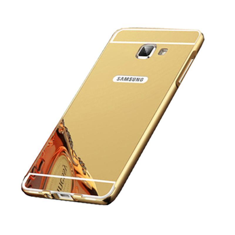 Bumper Case Mirror Sliding Casing for Samsung Galaxy A710 - Gold