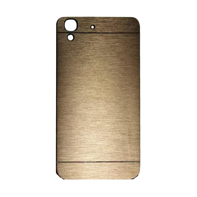 Motomo Metal Hardcase Backcase Casing for Huawei Y6 - Gold