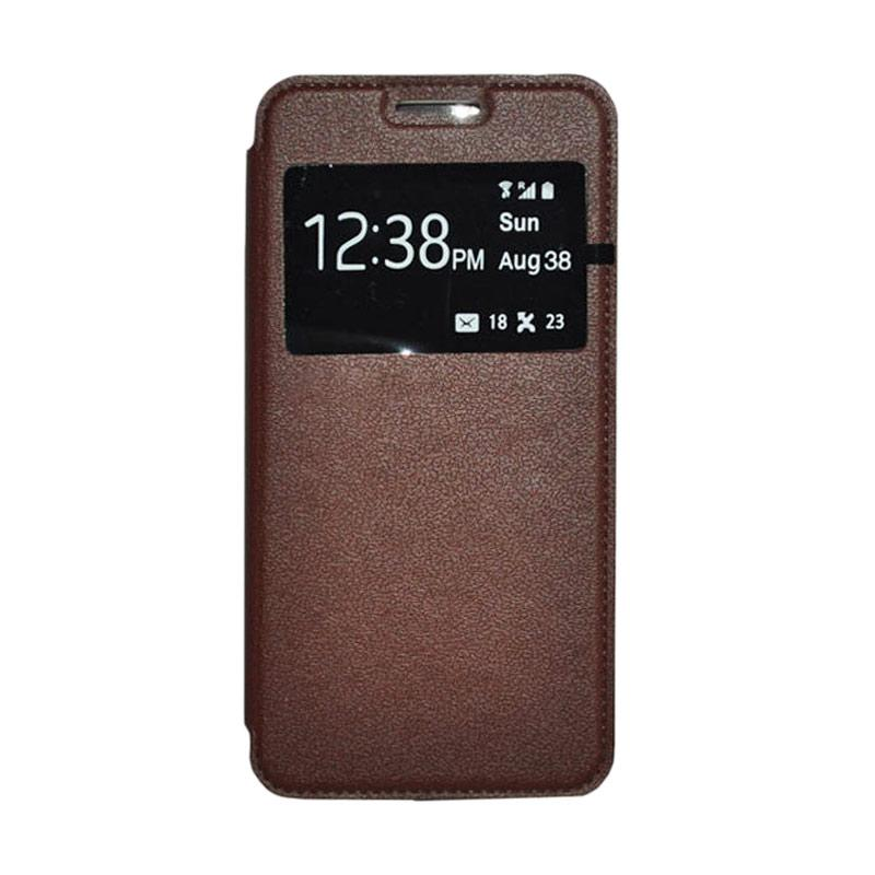 OEM Leather Book Cover Casing for Xiaomi Redmi Note 2 - Brown