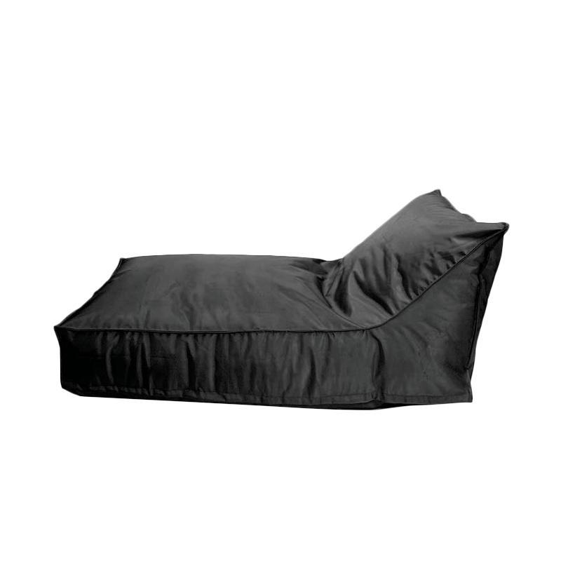 Prissilia Bean Bag Lounger Short Bantal Duduk - Black