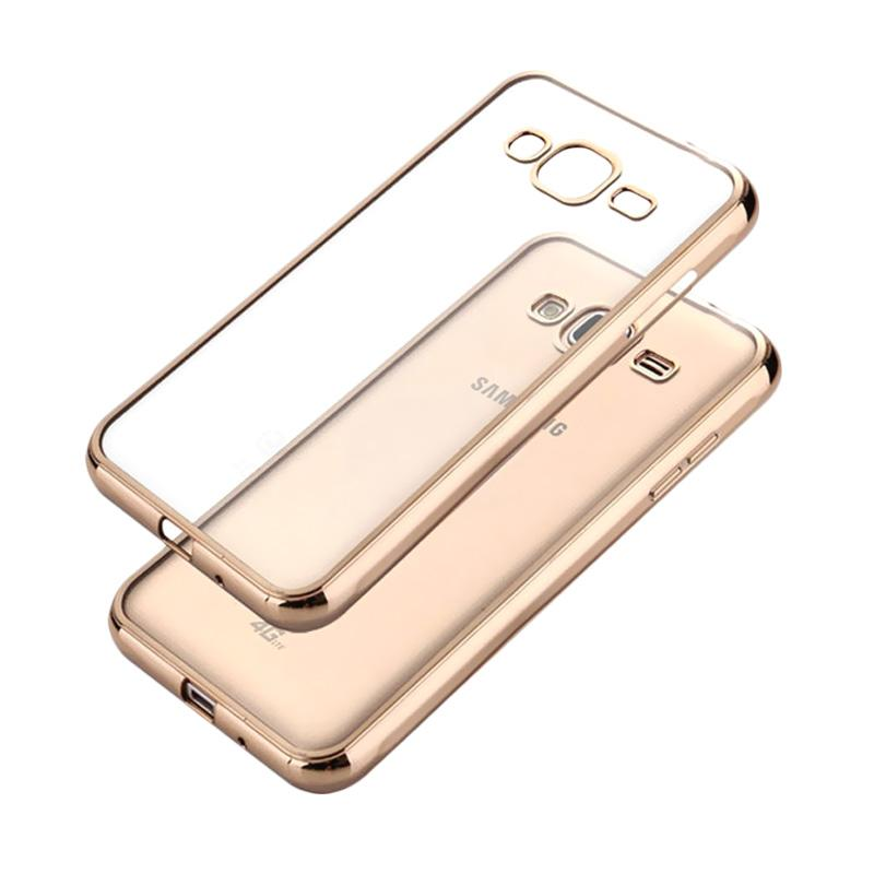 Likgus Tough Shield Casing for Samsung Galaxy J5 Plus - Gold