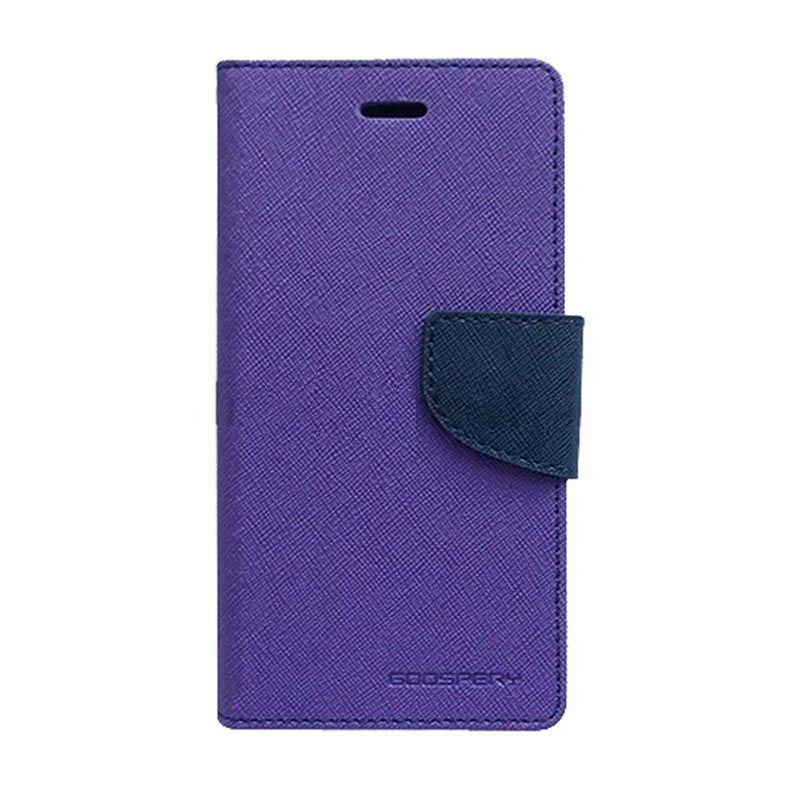 Mercury Fancy Diary Casing for iPhone 6 Plus 5.5 Inch - Ungu Biru laut