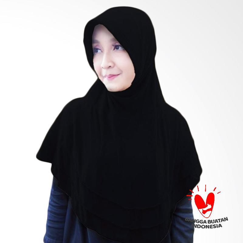 Milyarda Hijab Bergo Plat Kerudung Instant - Black