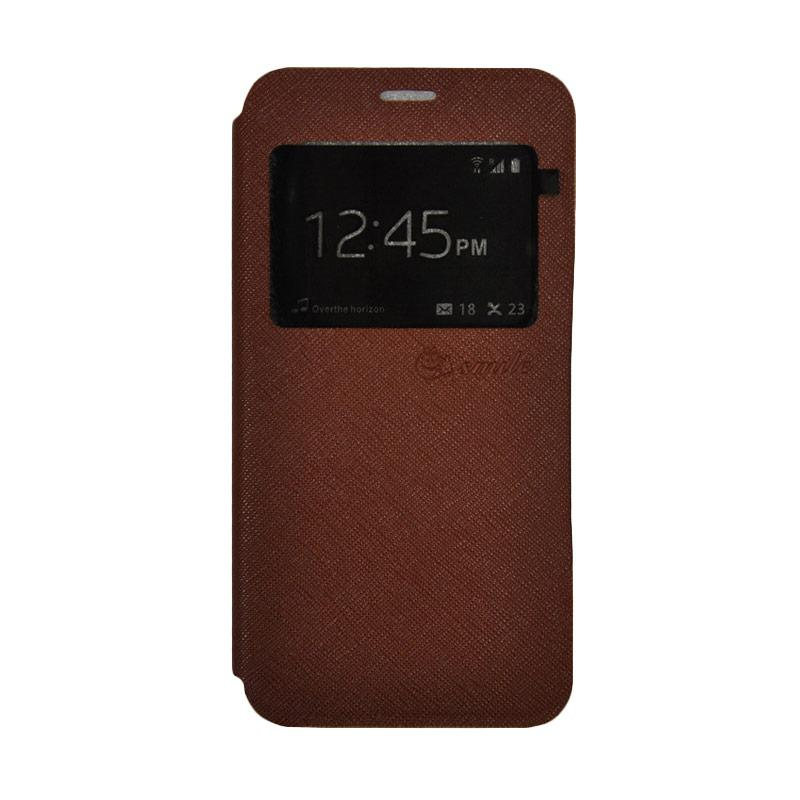 SMILE Standing Flip Cover Casing for Xiaomi Mi 5s - Brown