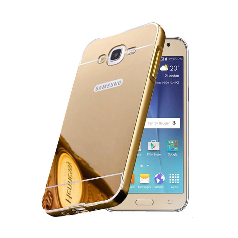 Bumper Case Mirror Sliding Casing for Samsung Galaxy J2 - Gold