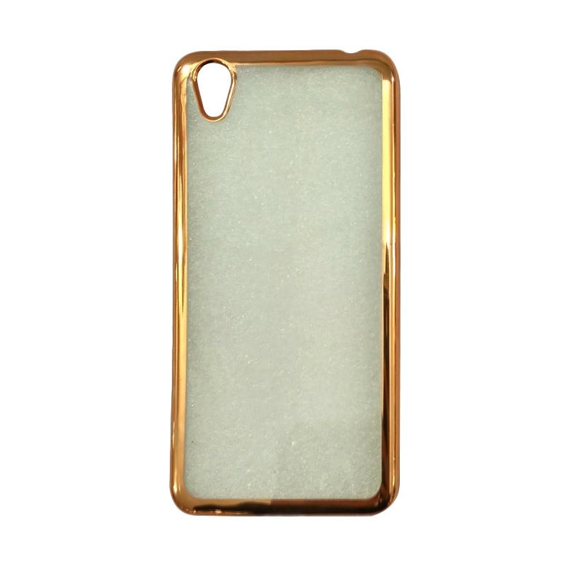 OEM Shining Chrome Softcase Casing for Oppo F1 Plus R9 - Gold