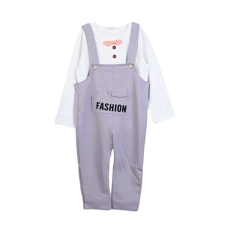 Chloebaby Shop Wearpack Fashion F949 Setelan Pakaian Anak - Grey