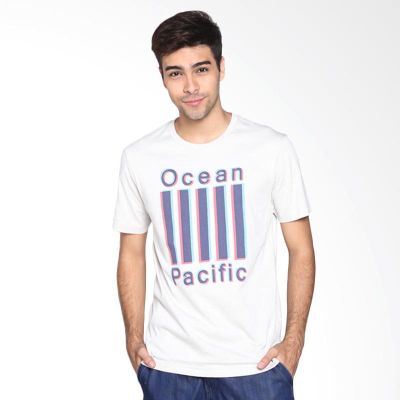 Ocean Pacific Fashion 03MTF86831 Mens T-Shirt - Light Grey