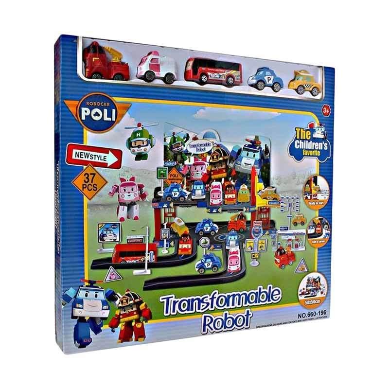TME Robocar Poli Transformable Robot Set Mainan Anak [37 pcs]
