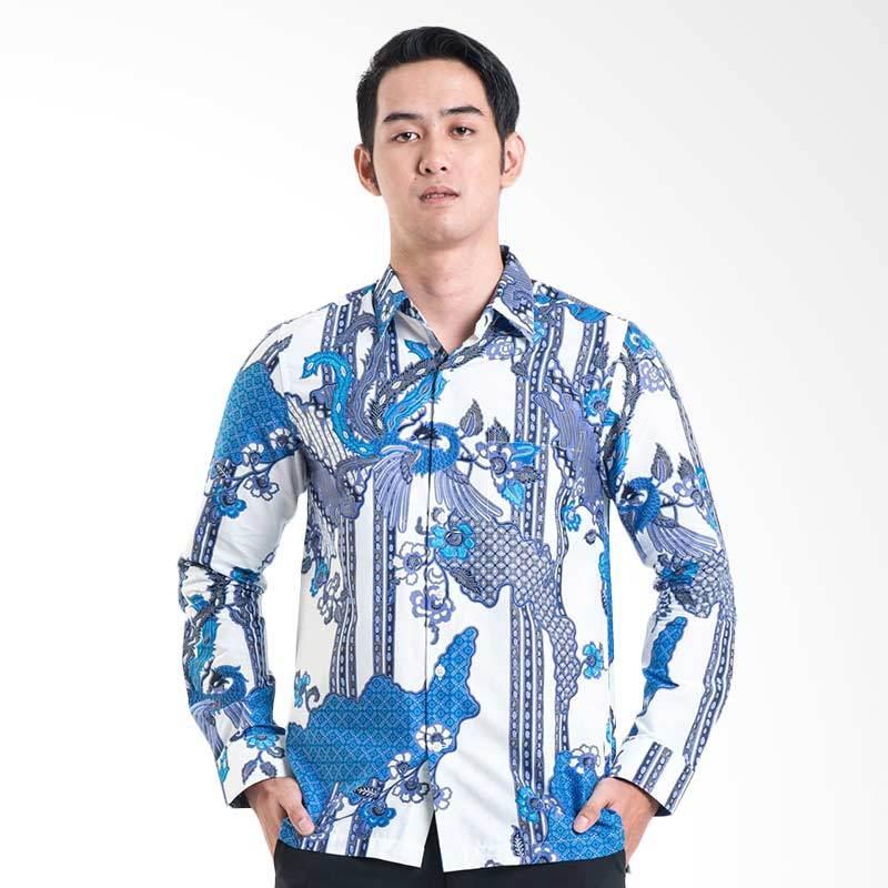 Batik Solo Shirt 16-011B P3-20 Baju Batik Pria - White