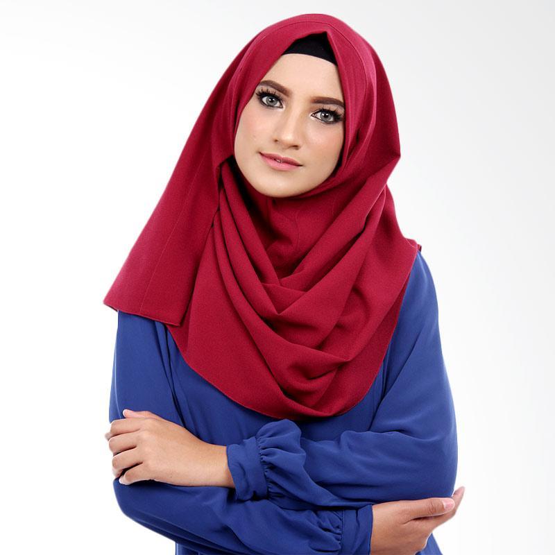 Cantik Kerudung Selena Hijab Instant ��� Maroon