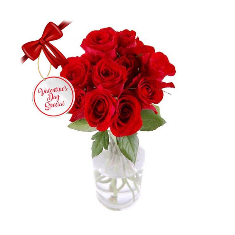 Flower Advisor Vday Dozen Roses Bouquet