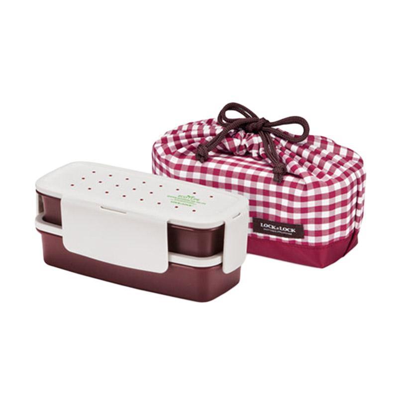 Jual LOCK & LOCK 2 Layer Lunch Box with Bag - Red Online - Harga & Kualitas Terjamin | Blibli.com