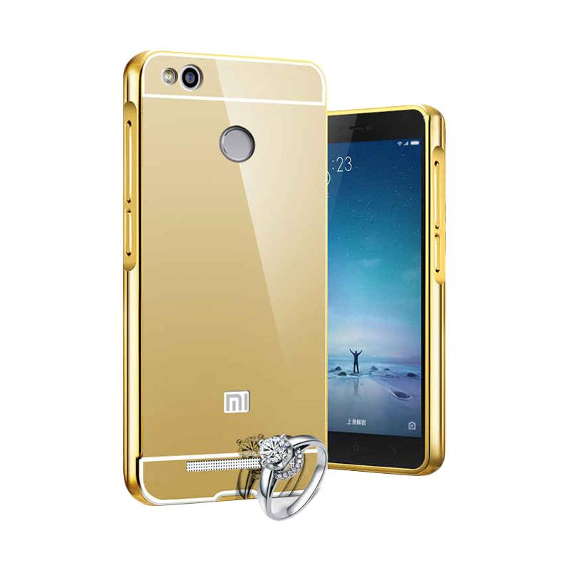 OEM Bumper Metal Sliding Backcase Casing for Xiaomi Mi4S - Gold