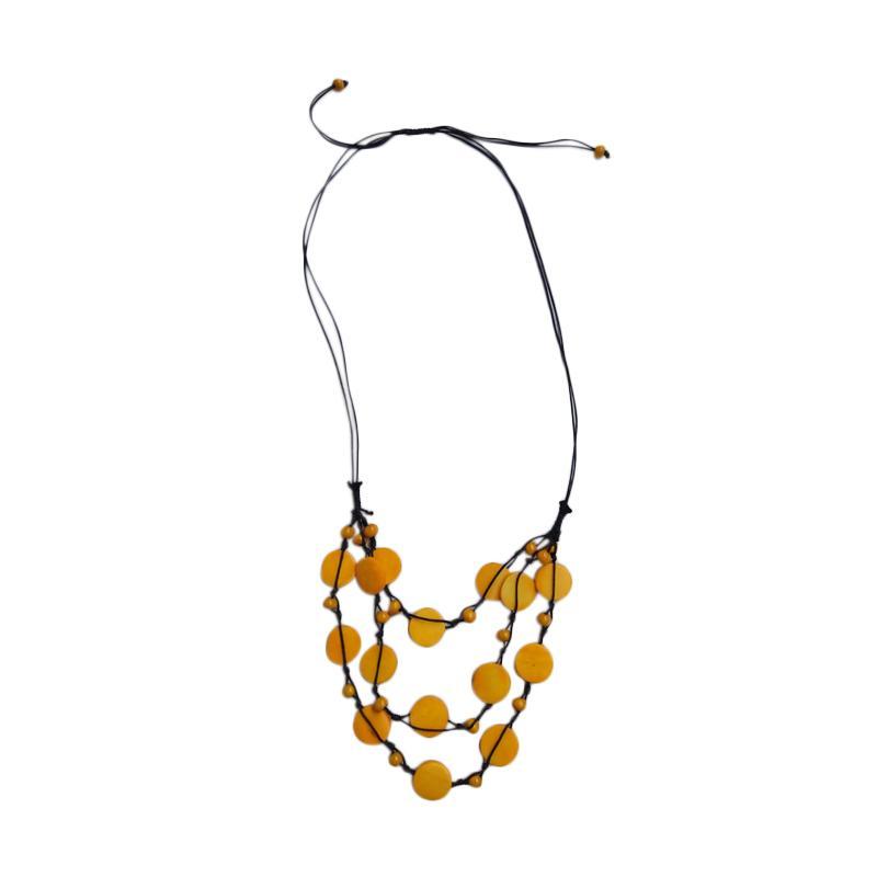 Tata Bali Shop 286 Kalung Fashion Wanita Khas Bali - Yellow