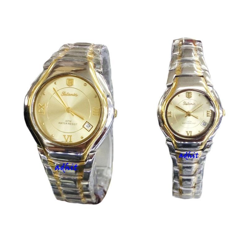 Tetonis T951G Jam Tangan Couple Serries - Silver Gold
