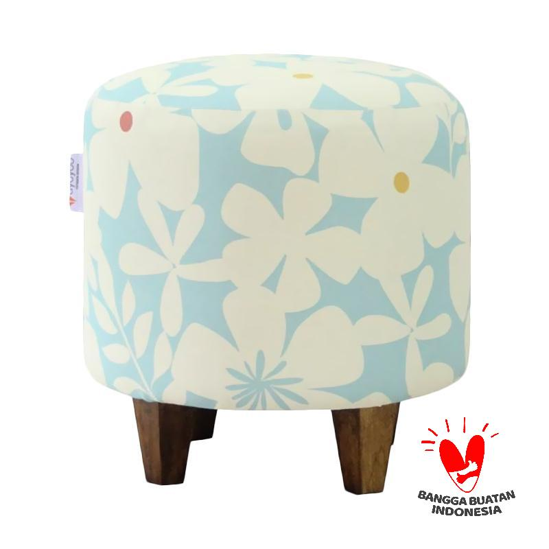 Ayoyoo Sky Lotus Barrel Stool - Light Blue