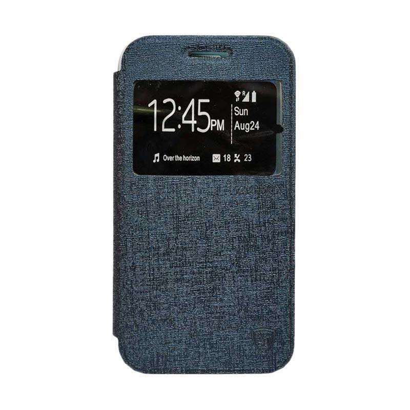 Zagbox Flip Cover Casing for Samsung Galaxy Note 7 - Biru Dongker
