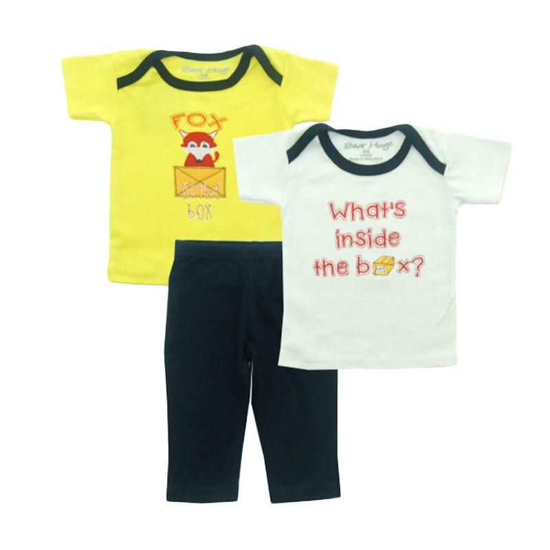 Bearhug Fox Set for Baby Boy Set Pakaian Anak - Kuning [3 Pcs]