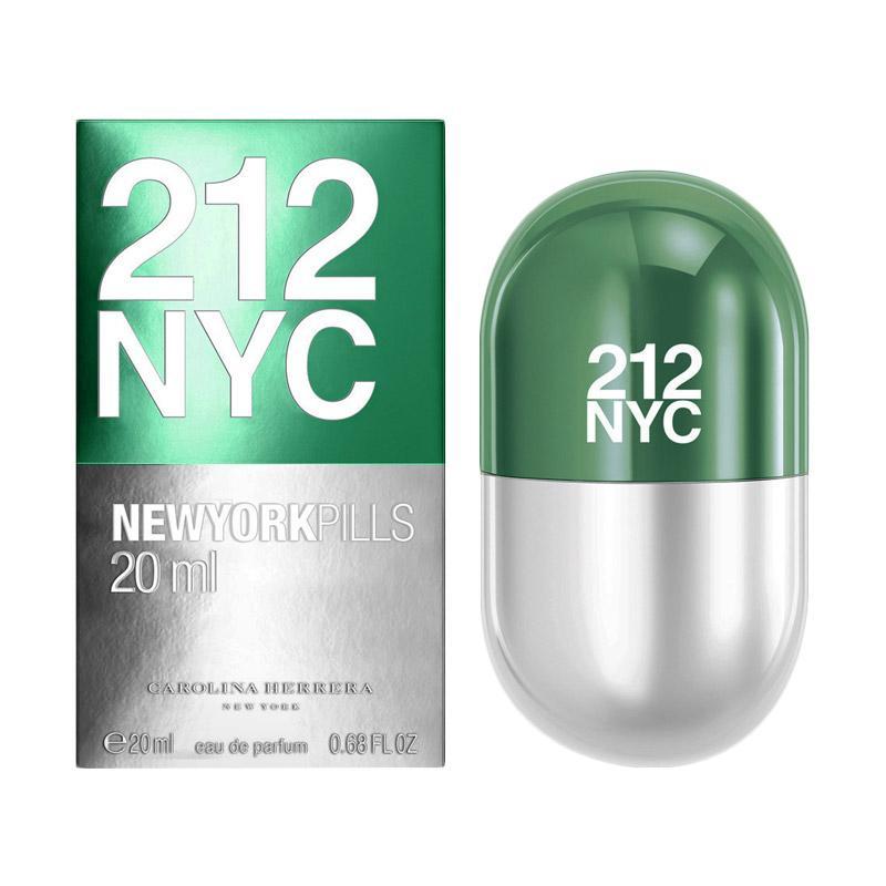 Carolina herrera 212 NYC Pills Parfum Wanita [20 mL] Ori Tester Non Box