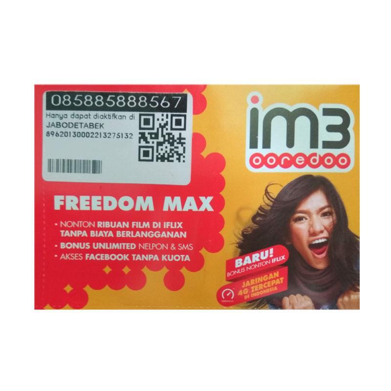 Indosat IM3 Nomor Cantik HOKI 08 588 5888 567 Kartu Perdana [4G LTE]
