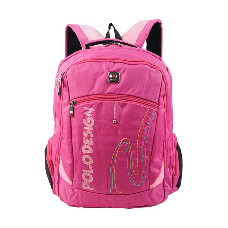 Polo Design Rain Cover Backpack Tas Pria PX1-21002 L - Pink