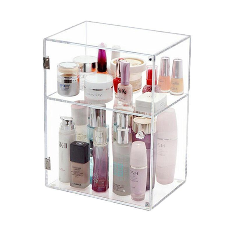 Acrylic Bok Parfume 2 Tingkat Make Up Organizer