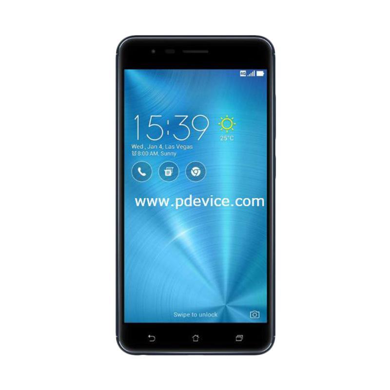 Asus ZenFone 3 Zoom ZE553KL Smartphone - Navy Black [64GB/4GB/Resmi]
