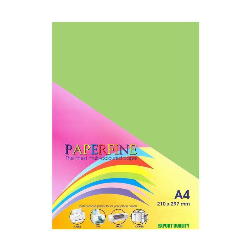 Paperfine Kertas HVS Warna A4 - Green Hijau Ijo [25 Lembar]