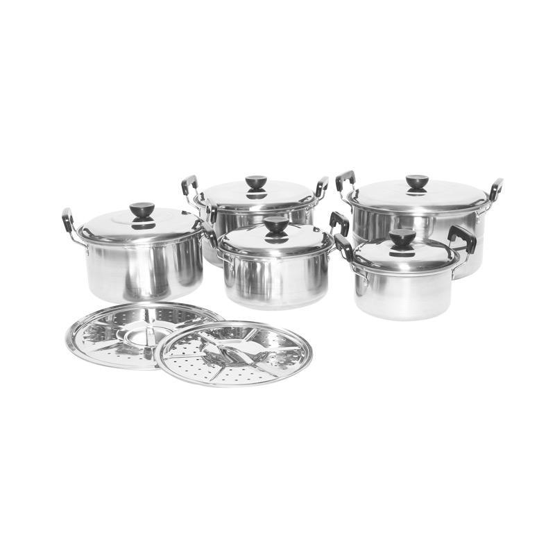 Universal High Pot Set Panci Stainless Steamer